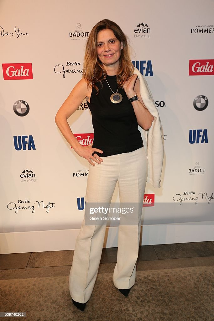 <a gi-track='captionPersonalityLinkClicked' href=/galleries/search?phrase=Sarah+Wiener&family=editorial&specificpeople=2369161 ng-click='$event.stopPropagation()'>Sarah Wiener</a> during the 'Berlin Opening Night of GALA & UFA Fiction' at Das Stue Hotel on February 11, 2016 in Berlin, Germany.