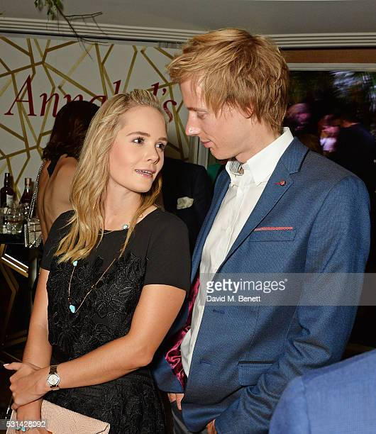 Sarah Wilson and Brendon Hartley attend the Chopard x Annabel's Cannes party on May 14 2016 in Cannes France