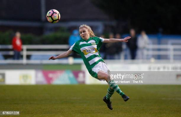 Sarah Wiltshire of Yeovil Town Ladies in action during the WSL Spring Series Match between Yeovil Town Ladies and Bristol City Women at The Viridor...