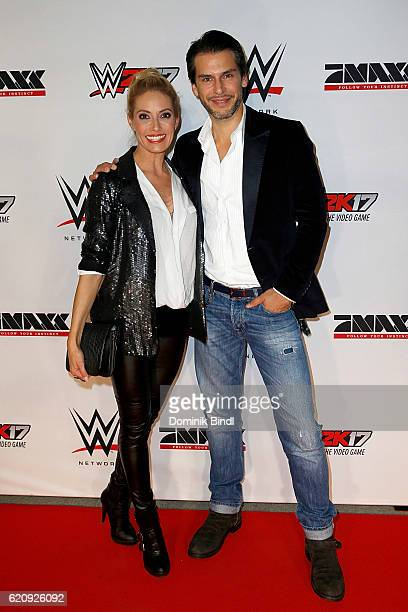 Sarah Winkhaus and Florian Odenthal attend Tim Wiese's first WWE fight at Olympiahalle on November 3 2016 in Munich Germany