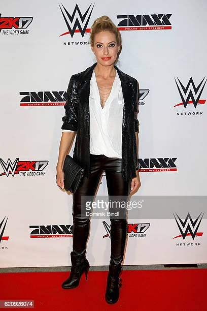 Sarah Winkhaus attends Tim Wiese's first WWE fight at Olympiahalle on November 3 2016 in Munich Germany