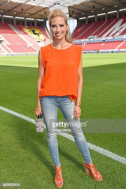 Sarah Winkhaus during the 'Champions for charity' football match between Nowitzki All Stars and Nazionale Piloti in honor of Michael Schumacher at...