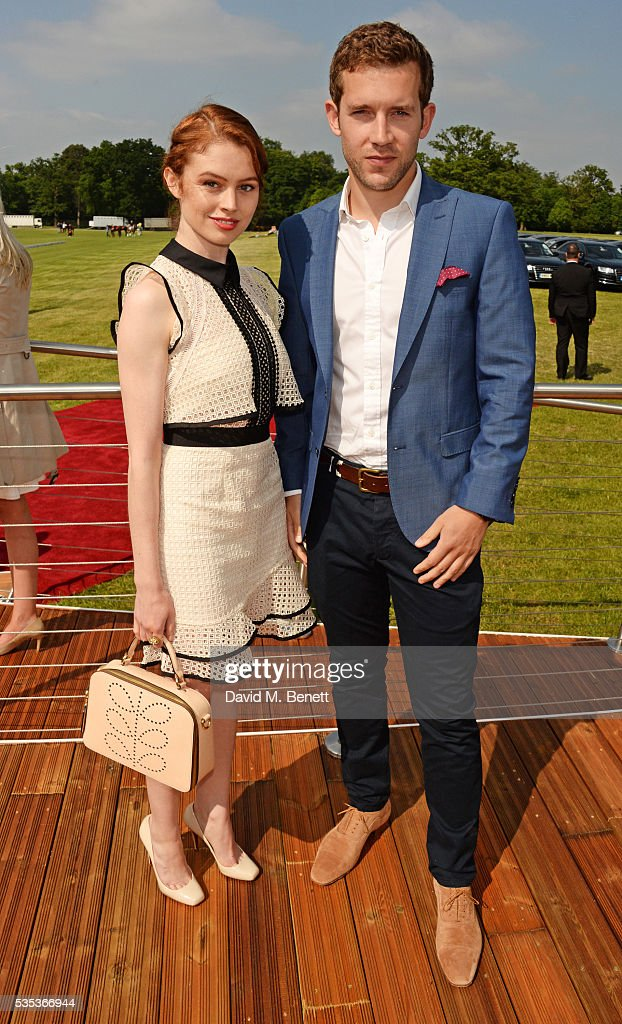 Sarah Winter (L) and Nick Hendrix attend day two of the Audi Polo Challenge at Coworth Park on May 29, 2016 in London, England.