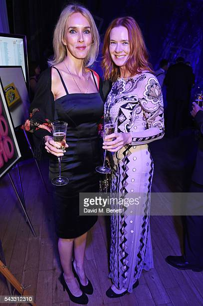 Sarah Woodhead and Dee Stirling attend the Summer Gala for The Old Vic at The Brewery on June 27 2016 in London England