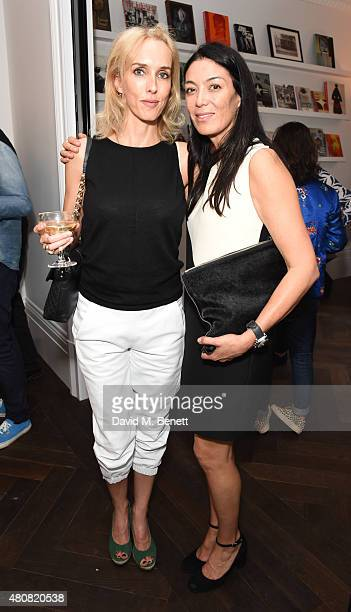Sarah Woodhead and Tracy Lowy attend The Laslett preopening drinks reception at The Laslett on July 15 2015 in London England