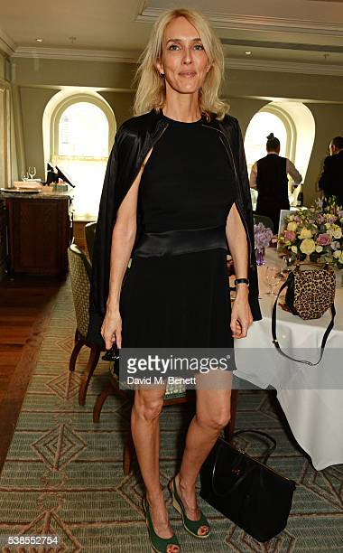 Sarah Woodhead attends a lunch hosted by Tamara Beckwith and Alessandra Vicedomini to celebrate luxury fashion brand Vicedomini at Fortnum Mason on...