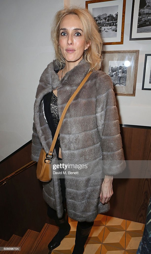 Sarah Woodhead attends the launch of Italian restaurant and menswear boutique Chucs on Westbourne Grove on on February 10, 2016 in London, England.