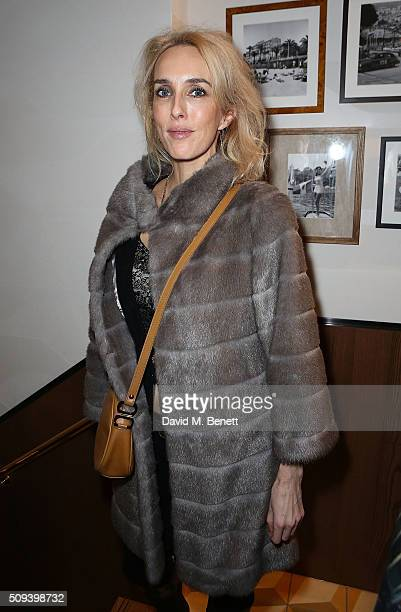 Sarah Woodhead attends the launch of Italian restaurant and menswear boutique Chucs on Westbourne Grove on on February 10 2016 in London England