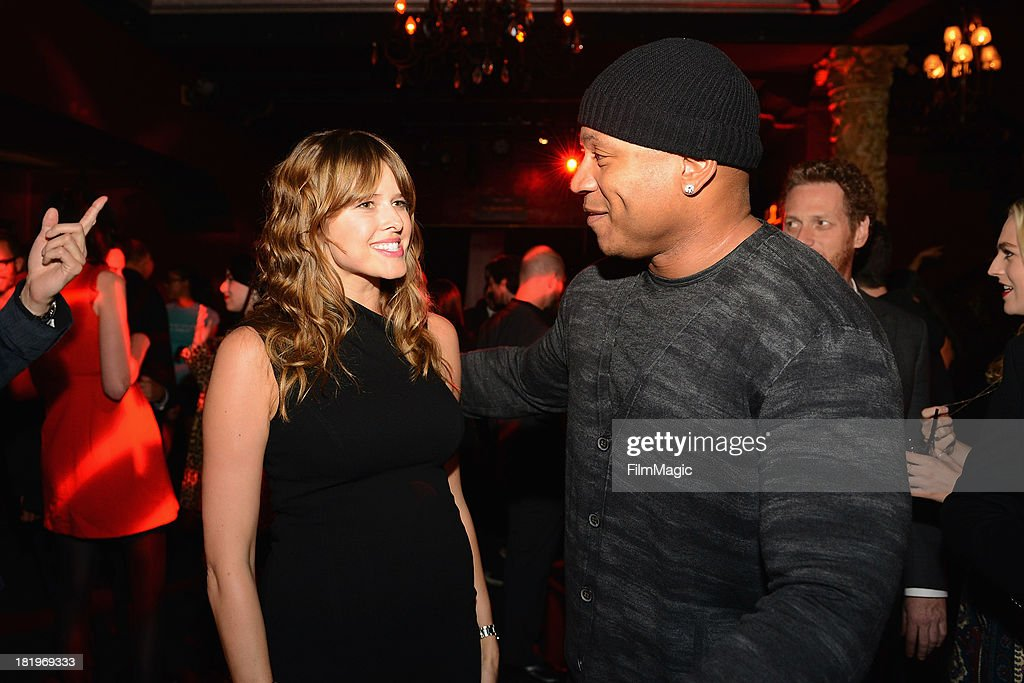 Sarah Wright and LL Cool J attend HBO's 'Hello Ladies' friends and family screening at Avalon on September 26 2013 in Hollywood California