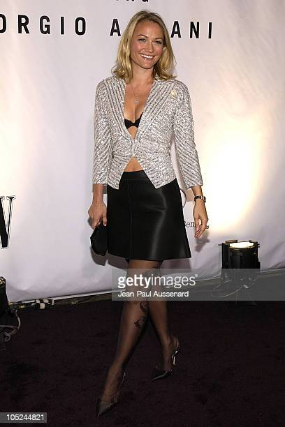 Sarah Wynter during Giorgio Armani Receives First 'Rodeo Drive Walk Of Style' Award at Rodeo Drive in Beverly Hills California United States