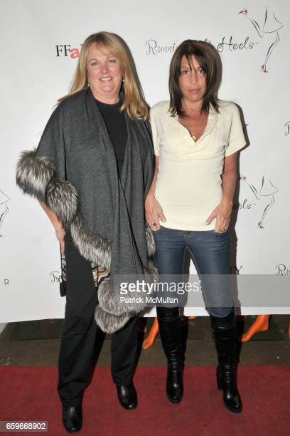Sarah Young and Suzanne Mates attend RUNNING WITH HEELSCOM One Year Anniversary Party at Walter Showroom on March 25 2009 in New York City