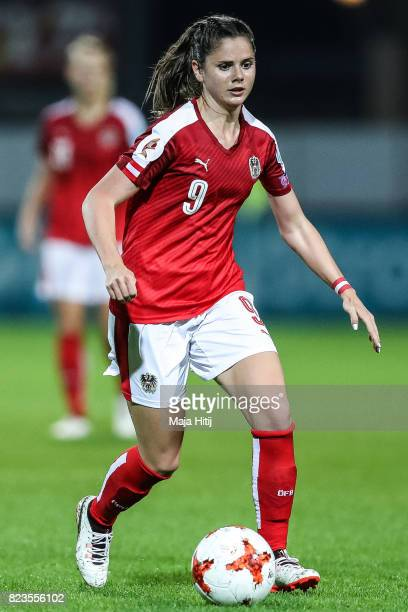 Sarah Zadrazil of Austria controls the ball during the Group C match between Iceland and Austria during the UEFA Women's Euro 2017 at Sparta Stadion...