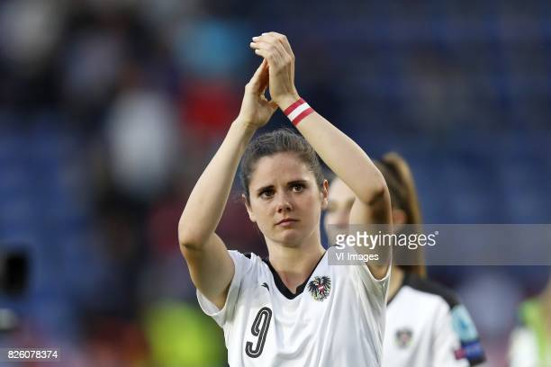 Sarah Zadrazil of Austria women during the UEFA WEURO 2017 semifinal match between Denmark and Austria at the Rat Verlegh stadium on August 03 2017...
