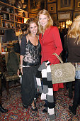 SarahJane Clarke and Jodie Kidd during Sass and Bide Tea Party November 24 2005 at Millers Residence in London Great Britain