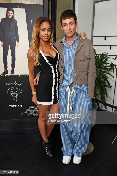 SarahJane Crawford and Kyle De'Volle attend the launch of James Bay's new Topman collection at The Ace Hotel on August 8 2017 in London England