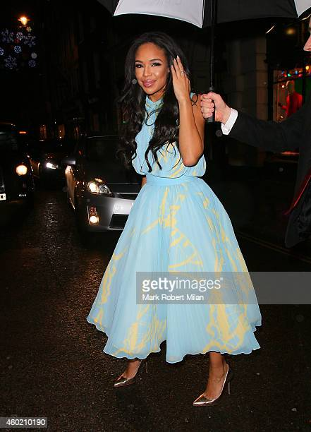 SarahJane Crawford attending The Sunday Times Style Christmas party at Tramp night club on December 9 2014 in London England