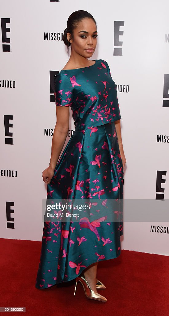 SarahJane Crawford attends E's Live From The Red Carpet Golden Globes Watch Along Party held at St Martin's Lane Hotel on January 10 2016 in London...