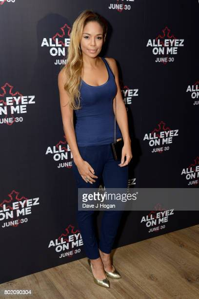SarahJane Crawford attends the 'All Eyez On Me' UK Film Premiere on June 27 2017 in London England
