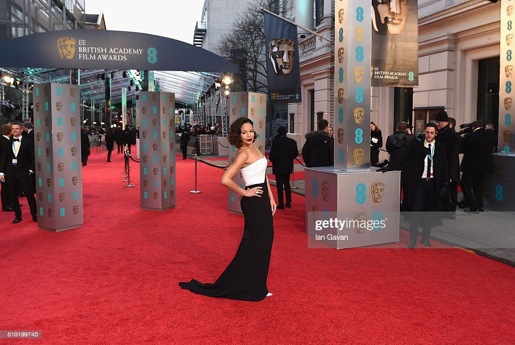 <a gi-track='captionPersonalityLinkClicked' href=/galleries/search?phrase=Sarah-Jane+Crawford&family=editorial&specificpeople=4952519 ng-click='$event.stopPropagation()'>Sarah-Jane Crawford</a> attends the EE British Academy Film Awards at the Royal Opera House on February 14, 2016 in London, England.