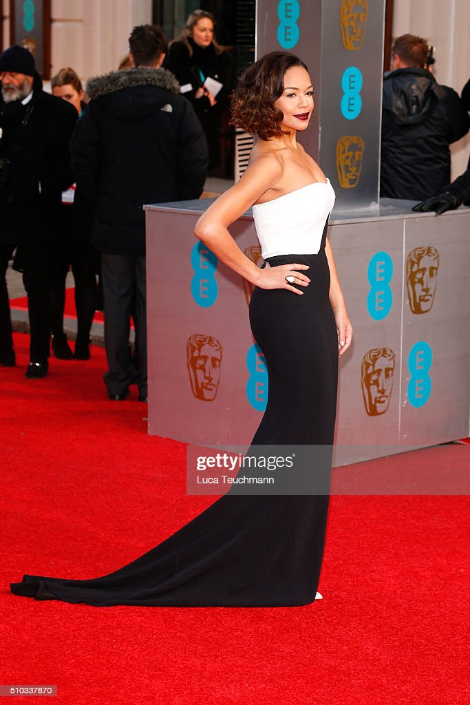 SarahJane Crawford attends the EE British Academy Film Awards at The Royal Opera House on February 14 2016 in London England