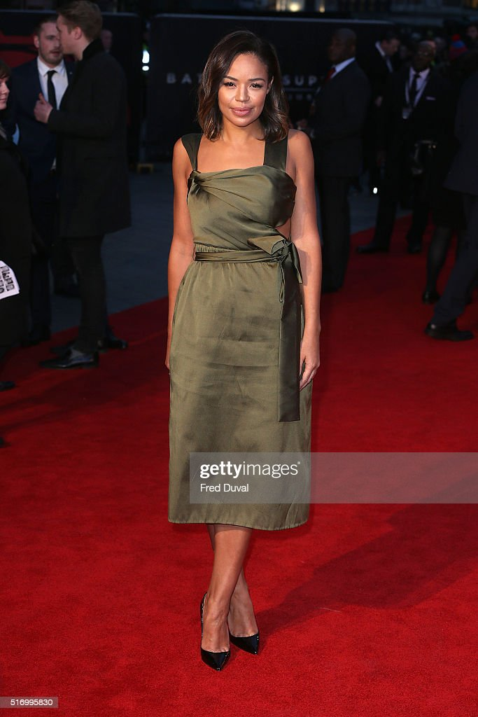 SarahJane Crawford attends the European Premiere of 'Batman v Superman Dawn Of Justice' at Odeon Leicester Square on March 22 2016 in London England