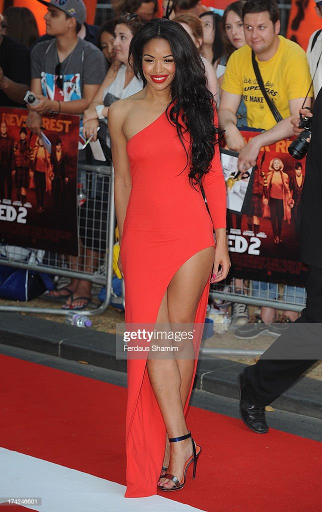 Sarah-Jane Crawford attends the European Premiere of 'Red 2' at Empire Leicester Square on July 22, 2013 in London, England.