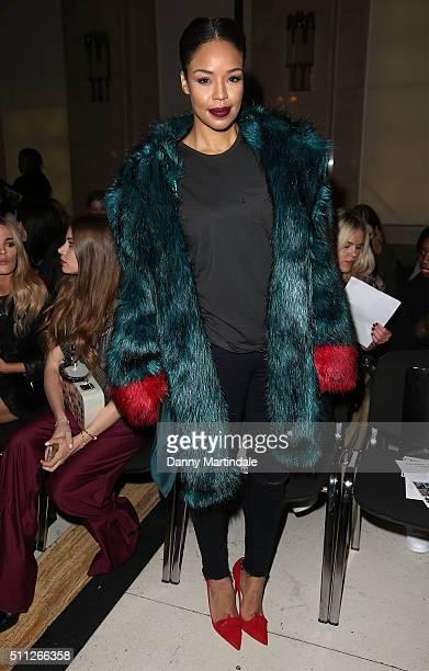 SarahJane Crawford attends the Felder Felder show during London Fashion Week Autumn/Winter 2016/17 at on February 19 2016 in London England