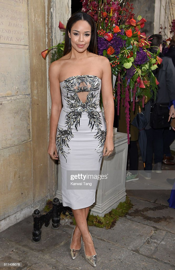 SarahJane Crawford attends the Julien Macdonald show during London Fashion Week Autumn/Winter 2016/17 at One Mayfair on February 20 2016 in London...