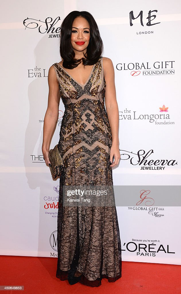 <a gi-track='captionPersonalityLinkClicked' href=/galleries/search?phrase=Sarah-Jane+Crawford&family=editorial&specificpeople=4952519 ng-click='$event.stopPropagation()'>Sarah-Jane Crawford</a> attends the London Global Gift Gala at ME Hotel on November 19, 2013 in London, England.