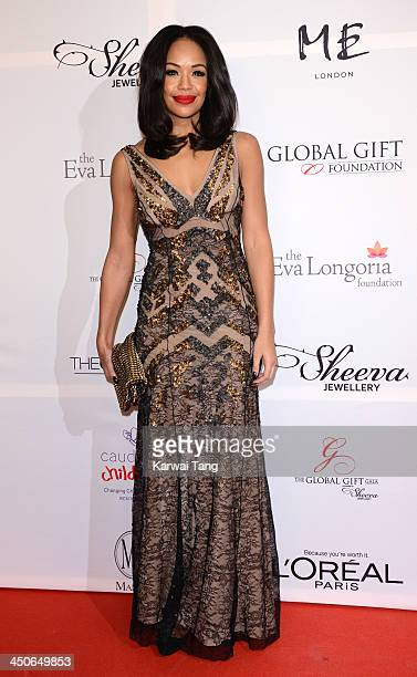 SarahJane Crawford attends the London Global Gift Gala at ME Hotel on November 19 2013 in London England