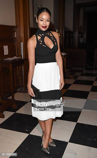 SarahJane Crawford attends the PPQ show during London Fashion Week Autumn/Winter 2016/17 at on February 19 2016 in London England