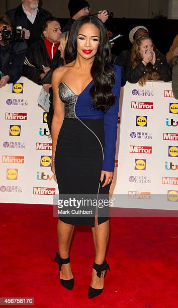 SarahJane Crawford attends the Pride of Britain awards at The Grosvenor House Hotel on October 6 2014 in London England