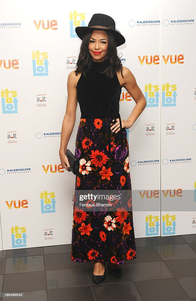 Sarah-Jane Crawford attends the West End Premiere of 'It's A Lot' at Vue West End on October 21, 2013 in London, England.