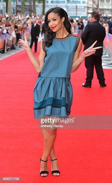 SarahJane Crawford attends the World Premiere of 'The Inbetweeners 2' at Vue West End on August 5 2014 in London England