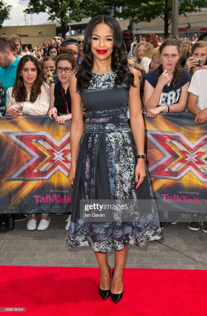 SarahJane Crawford attends the X Factor Wembley Arena auditions at Wembley on August 1 2014 in London England