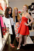 SarahJane Crawford Katie Readman and Amber Atherton attend a Tropical Fete with floral workshop by celebrity stylist Martha Ward and Wild at Heart at...