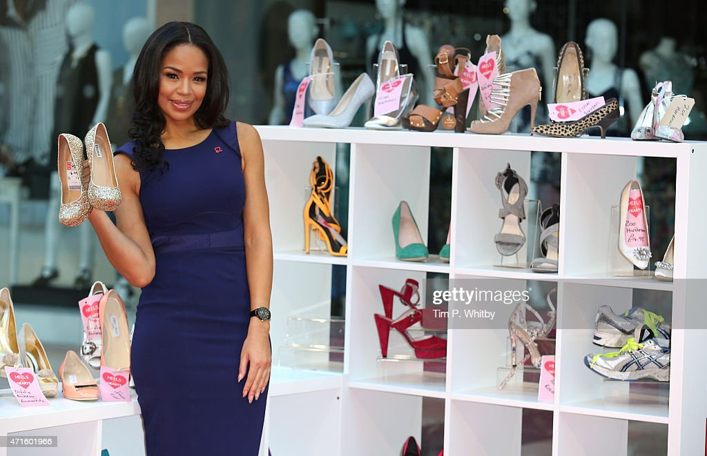SarahJane Crawford launches the British Heart Foundation pop up at Westfield Stratford City on April 30 2015 in London England