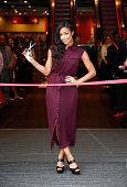 SarahJane Crawford officially opens the new TK Maxx at Westfield Stratford City on September 4 2014 in London England