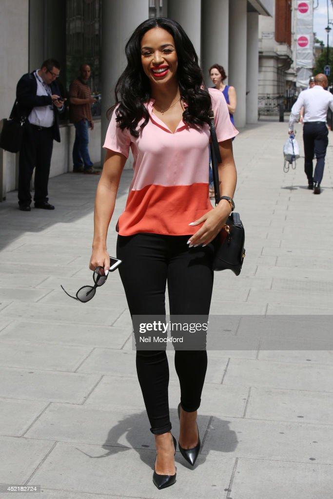 SarahJane Crawford seen arriving at BBC Radio Studios on July 15 2014 in London England