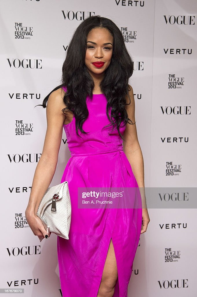 Sarah-Jane Crawfordattends the opening party for The Vogue Festival in association with Vertu at Southbank Centre on April 27, 2013 in London, England.