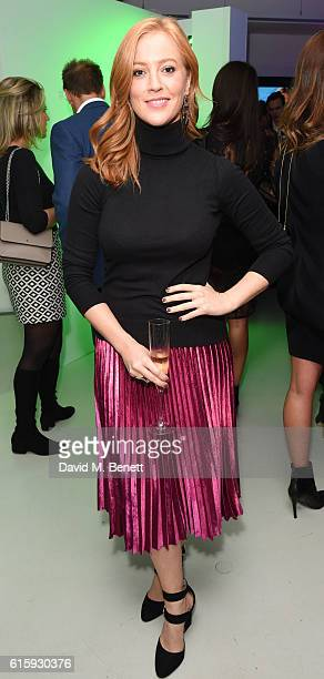 SarahJane Mee attends an exclusive preview of the Faberge 'Say Yes In Colour' collection at Rook Raven Gallery on October 20 2016 in London England