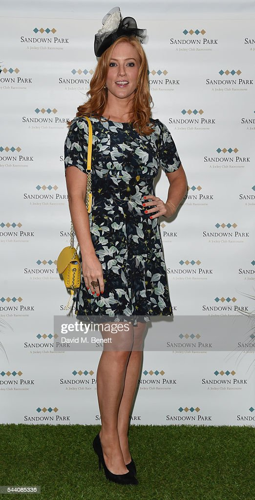 Sarah-Jane Mee attends the Sandown Park Racecourse Ladies' Day STYLE AWARD Hosted by Rosie Fortescue at Sandown Park on July 1, 2016 in Esher, England.