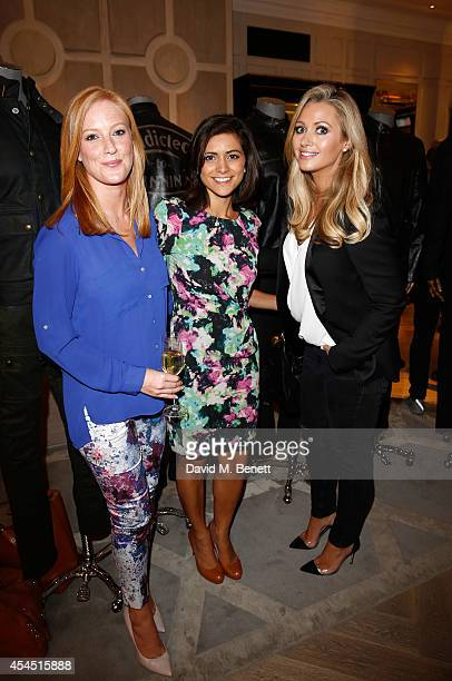 SarahJane Mee Lucy Verasamy and Hayley Quinn attend a cocktail reception to celebrate the new Belstaff by Goodwood racing jacket capsule collection...