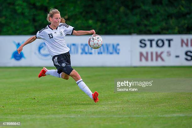Sarai Linder of Germany during the Girl's Nordic Cup between U16 Germany and U16 Norway at Norre Aaby Stadium on June 29 2015 in Norre Aaby Denmark