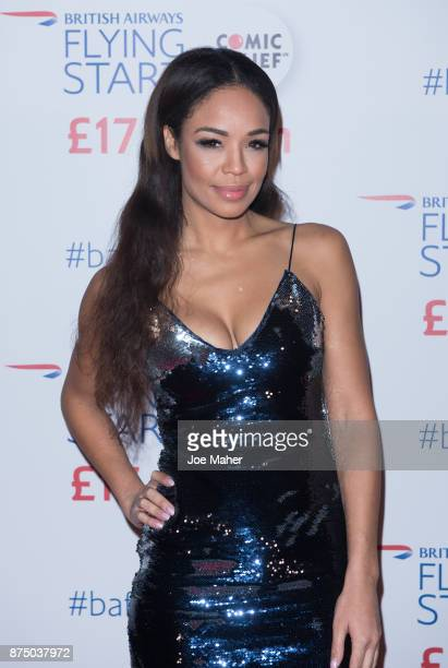 SaraJane Crawford attends a British Airways event celebrating the airline raising GBP17 million for Comic Relief through its Flying Start Partnership...