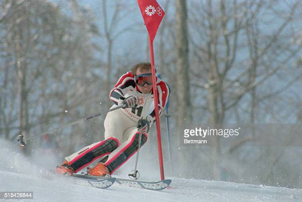Phil Mahre skis to Olympic gold in the slalom event February 19
