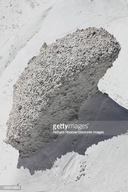 Sarakiniko pumiceous white tuff formations sculpted by erosion, Milos, Greece.
