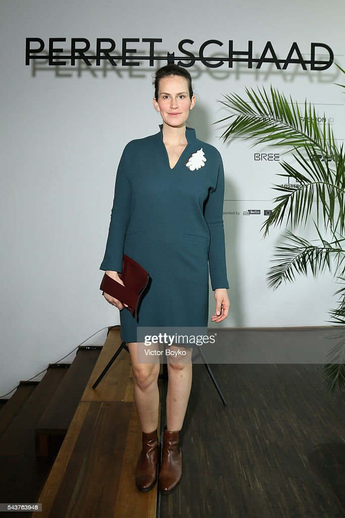 Saralisa Volm attends the Perret Schaad show during the Mercedes-Benz Fashion Week Berlin Spring/Summer 2017 at Stage at me Collectors Room on June 30, 2016 in Berlin, Germany.