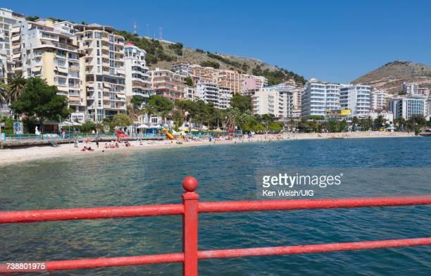 'Sarande, Albania. Main resort beach.'