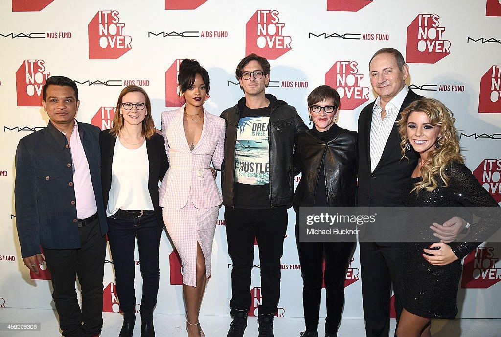 Sarang Bhakre Pivot's Belisa Balaban MAC Viva Glam Spokesperson Rihanna Director Andrew Jenks Global Executive Director of MAC AIDS Fund Nancy Mahon...